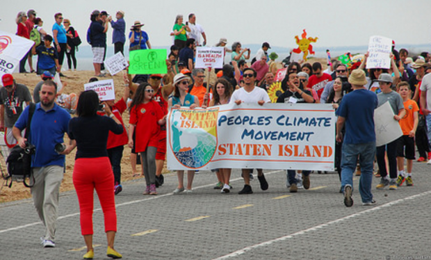 Marching down the FDR Boardwalk (Photo: Thomas Altfather Good / Union Writer)