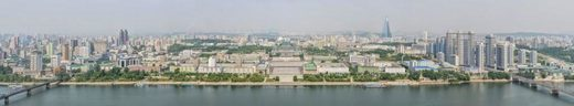 dprk360.com / Aram Pan A view of downtown Pyongyang, Korea's 2,000-year-old capital, from across the River Taedong.