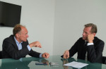 im Berners-Lee, the inventor of the World Wide Web, being interviewed by Axel Springer CEO Mathias Dophfner. Die Welt