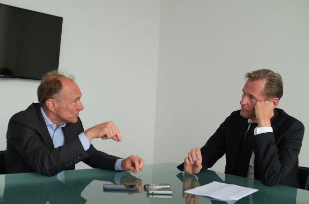 im Berners-Lee, the inventor of the World Wide Web, being interviewed by Axel Springer CEO Mathias Dophfner. Die Welt