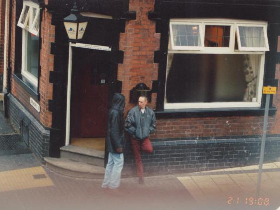 Neil posing as an addict to buy crack cocaine in Normanton, in 1995