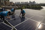 China leads the world in renewable energy jobs. In the U.S., solar and wind industry employment has skyrocketed in recent years, but now the Trump administration is trying to stop it. Credit: Kevin Grayer/Getty