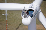 The wind energy industry supports more than 100,000 jobs, and the past three months have kept workers busy with installations, according to AWEA. Credit: U.S. Department of Energy