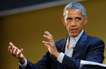 ALESSANDRO GAROFALO/REUTERS So close, President Obama, but so far.