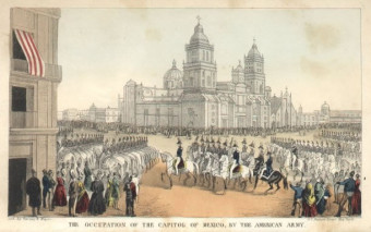 US capture of Mexico City during Mexican-American War.