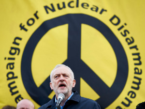 Corbyn campaigning for nuclear disarmament