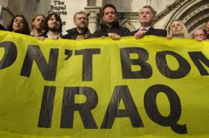 Corbyn protesting Iraq War