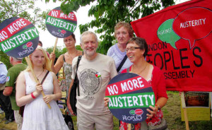 Corbyn protesting austerity