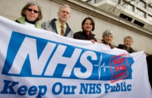 Corbyn protests for National Health Service