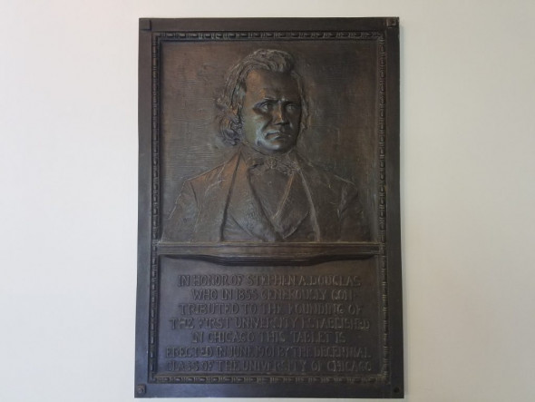 Douglas Plaque in Hutchinson Commons at the University of Chicago (Courtesy of the Authors).