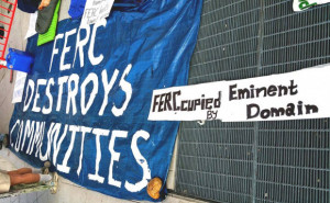 FERCcupy signs outside of FERC 5-27-15