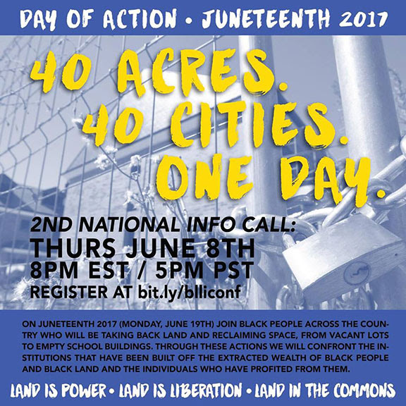 Juneteenth day of action 2017