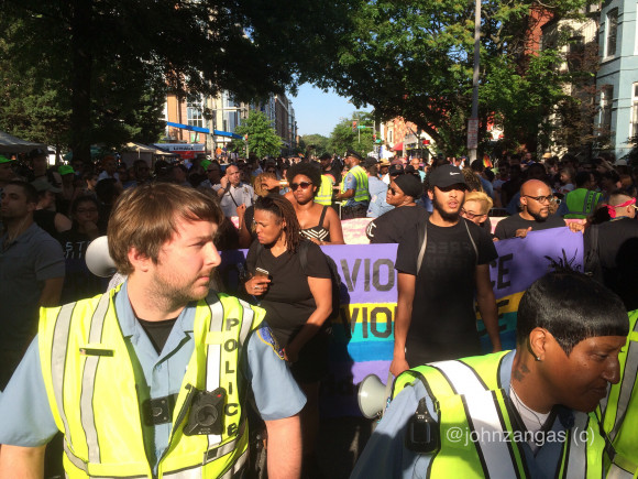 LGBTQ blockade at PRIDE DC June 10, 2017 by John Zangas