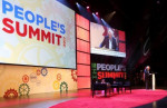 Sanders speaking at People's Summit