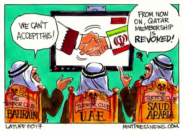 Saudi-Arabia-UAE-Bahrain-Egypt-cut-ties-with-Qatar-over-terrorism-MintPressNews-896x644