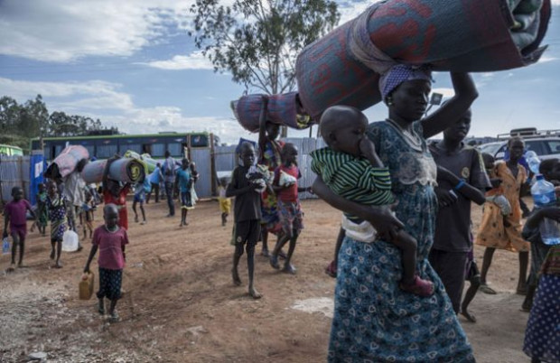 After three days on the road, South Sudanese refugees arrive at the newly constructed Gure Shembola Camp in Ethiopia. Credit: UNHCR/Diana Diaz
