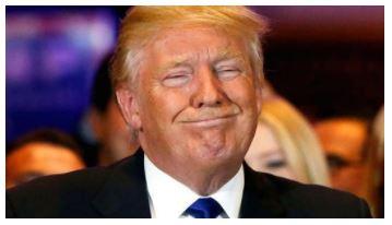 Trump strange face