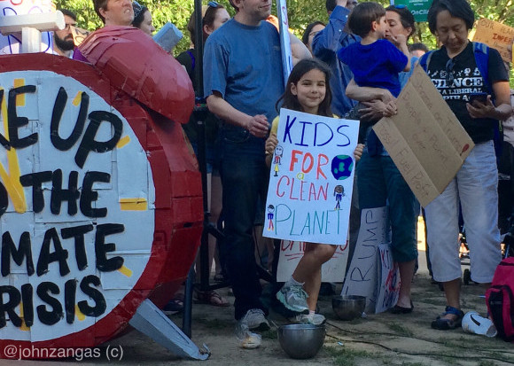 White House climate protest Kids for a Clean Planet. June 1, 2017 by John Zangas