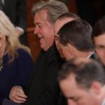 White House senior advisers Jared Kushner (right) and Kellyanne