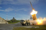 FILE PHOTO: A Terminal High Altitude Area Defense (THAAD) interceptor is launched during a successful intercept test, in this undated handout photo provided by the U.S. Department of Defense, Missile Defense Agency. U.S. Department of Defense, Missile Defense Agency/Handout...