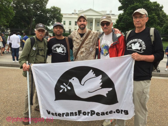 Veterans For Peace has advocated for diverting military spending towards education, healthcare, and infrastructure. Photo: John Zangas