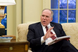 Former CIA Director John Brennan at a White House meeting during his time as President Barack Obama's counterterrorism adviser.