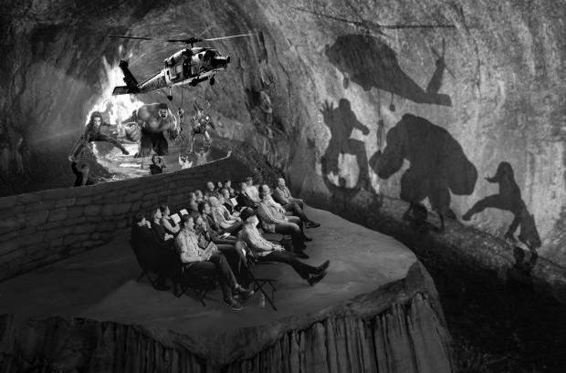 Plato's Cave reimagined for the Hollywood era—copyright Derek Swansonn