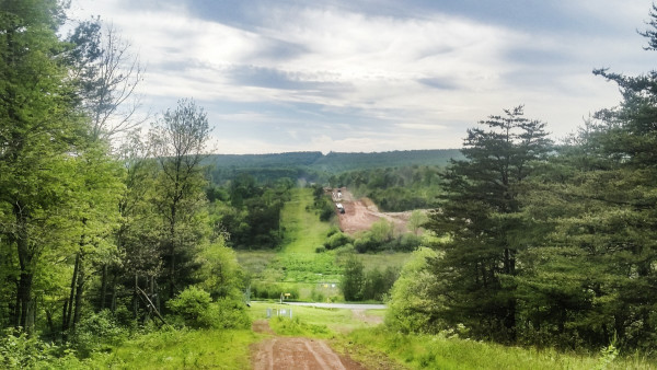 Work on Mariner East 2 can be seen from the Gerhart's property. Photo by Abbey Oldham