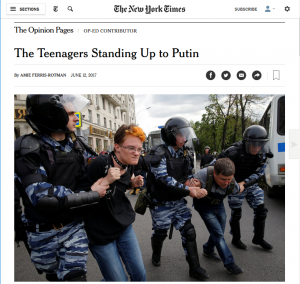 In Moscow, protesters are heroes, not trouble-makers.