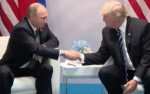 Russian President Vladimir Putin meets with U.S. President Donald Trump at the G-20 summit in Hamburg, Germany, on July 7, 2017. (Screen shot from Whitehouse.gov)
