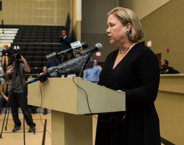 Former U.S. senator Mary Landrieu at the Bayou Bridge hearing. Photo: Avery White