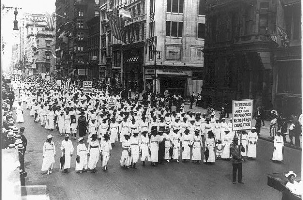 Silent protest parade in New York against the East St. Louis riots, 1917. Library of Congress