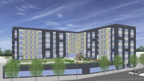 A mock up of the building planned for 5150 N. Northwest Highway. (Twitter/@affordableJP)