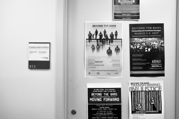 The door to the Criminal Justice Initiative at the Columbia Center for Justice.