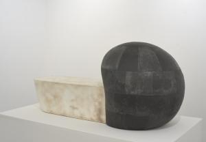 Hiroyuki Hamada  sculpture #81, 2011-13, oil, resin, and wax, 24″ x 54″ x 25″