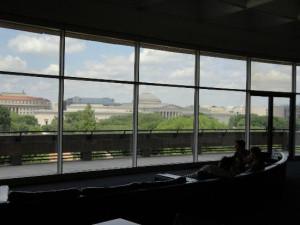 Hirshhorn Museum and Sculpture Garden: View third floor lounge.