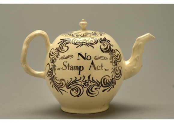 No-Stamp-Act-teapot-from-shortly-before-the-American-Revolution.-By-the-National-Museum-of-American-History.