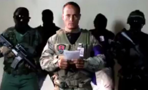 Oscar Perez screen shot of coup statement