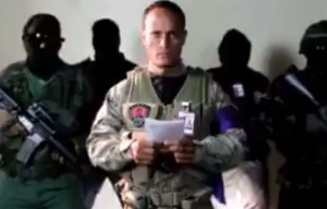 Venezuela, Oscar Perez screen shot of coup helicopter pilot