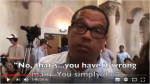 Screen shot from Robust Opposition, Rep. Keith Ellison denying he threatened to arrest single payer advocate