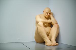 Ron Mueck's Big Man at thr Hirshhorn Museum