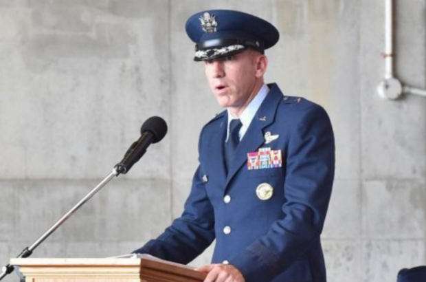Col. Case Cunningham took over the 18th Wing commander's job at Kadena Air Base at 8:51 a.m. on July 10