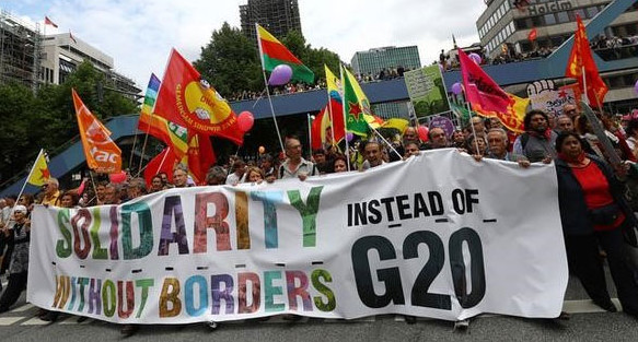 Solidarity without Borders G-20 Hamburg by Reuters