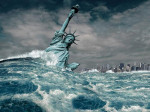 US Empire in decline statute of liberty image