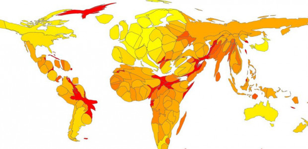 oxfam-distorted-map