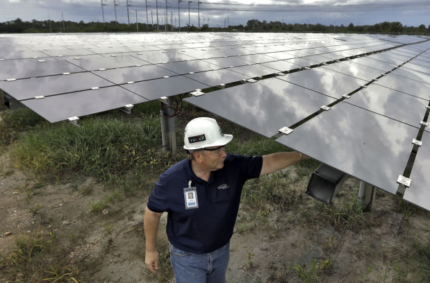 Why insist on coal as solar gets cheaper?(AP Photo/Chris O'Meara)