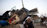 The aftermath of a previous demolition of the Bedouin village of Al-Araqeeb (Getty Images)