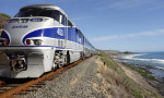 """The National Association of Railroad Passengers warned Trump's proposed budget cuts to Amtrak 'wipes out funding for long-distance train service in over 220 cities and towns and in 23 states that will lose train service completely"""". Photograph: Alamy Stock Photo"""