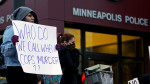 BLM protesters outsideof the Minneapolis Police Department's Third Precinct Nov. 25, 2014. (AP/Jim Mone)