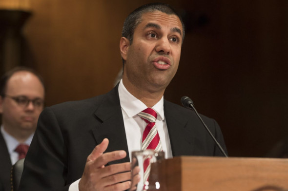 Chairman Ajit Pai of the Federal Communications Commission (FCC) testifies about the fiscal year 2018 budget request during an Appropriations Subcommittee on Financial Services and General Government hearing.